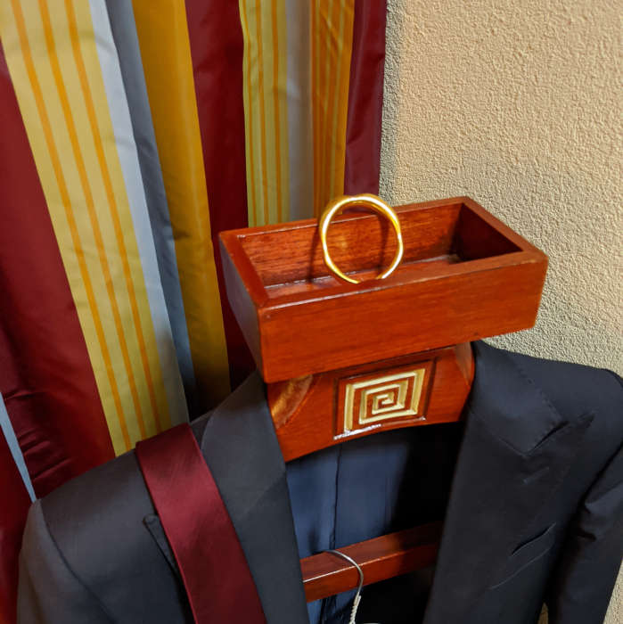 Suit and ring